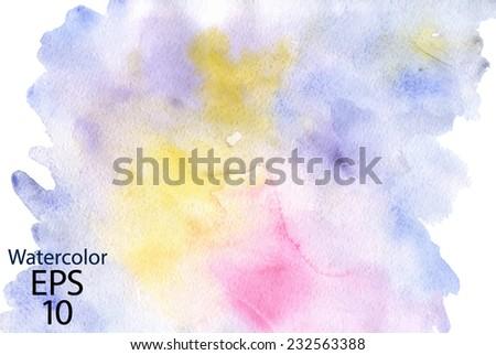 Vector watercolor background - stock vector
