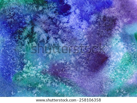 Vector watercolor background. Abstract art hand paint. Vector illustration. - stock vector