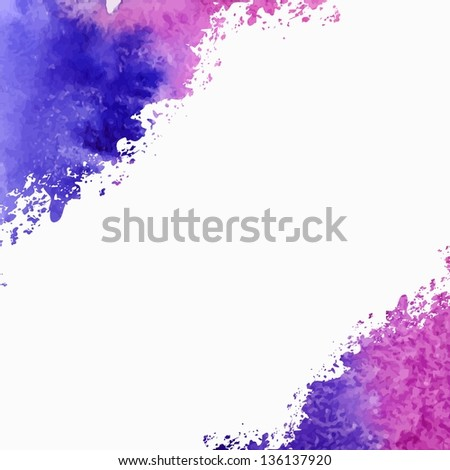Vector watercolor background. Abstract background.