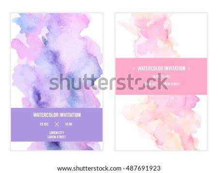 Vector watercolor background elegant simple card stock vector vector watercolor background elegant simple card templates pastel color backdrops watercolor bright stopboris Choice Image