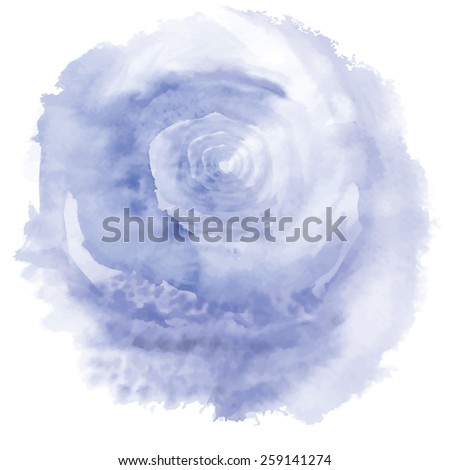 Vector Watercolor Background with twister. - stock vector