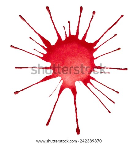 vector watercolor blotch - stock vector