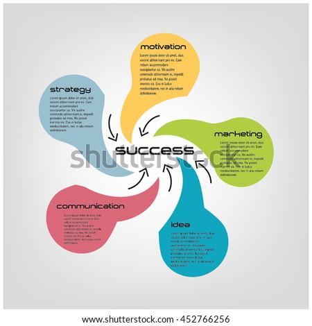 vector watercolor circle infographic template diagram stock vector