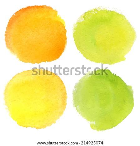 Vector watercolor circles - stock vector