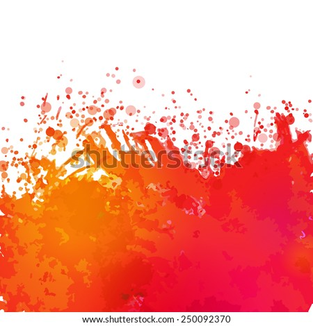 Vector watercolor drawing abstract background with splashes