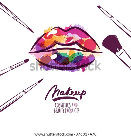 Vector Watercolor Hand Drawn Illustration Colorful Stock ...