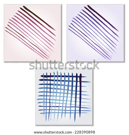 Vector watercolor lines background. Abstract hand-drawn texture. Isolated. - stock vector