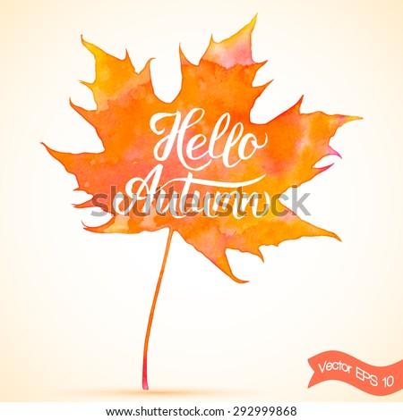 Hello Autumn Drawing Hello Autumn Hand Drawn