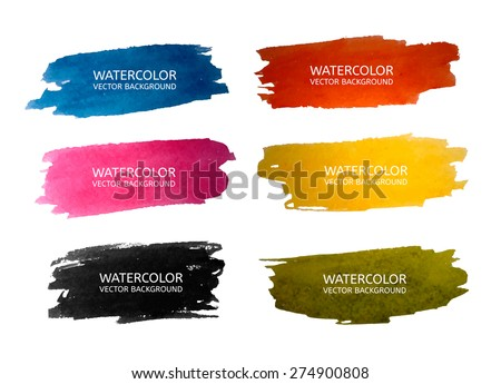 Vector Watercolor set - stock vector