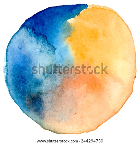 Vector watercolor spot. Watercolor colorful  background. Hand drawing illustration for design - stock vector