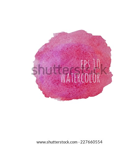 Vector watercolor stain. purple, red. circular template for packaging, wrappers, banner, in perfumes, cosmetics, cosmetology,  delicate feminine style, visual advertising, place or space for text. - stock vector