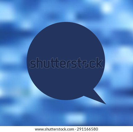 Vector wave blue water in motion the cloud for text citations  - stock vector