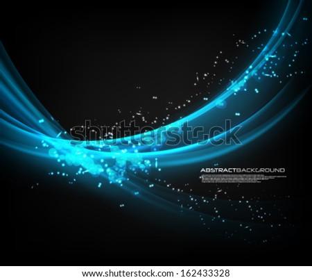 Vector Wave Elegant Background - stock vector