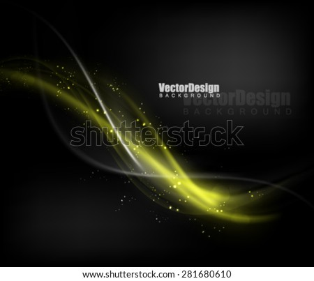 Vector Wave Glossy Deisgn - stock vector