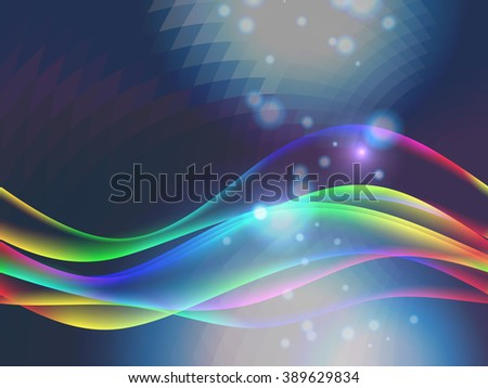 Vector waves. EPS10 with transparency and mesh. Abstract composition with curve lines. Blurred lines for relax themes background. Background with copy space. Place for text. Border lines - stock vector