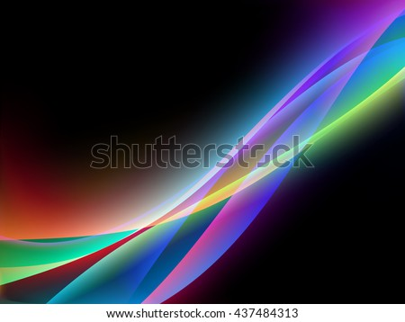 Vector waves. EPS10 with transparency and mesh. Abstract composition with curve lines. Blurred lines for relax themes background. Background with copy space. Place for text. Border lines