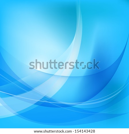vector wavy abstract modern blue background - stock vector