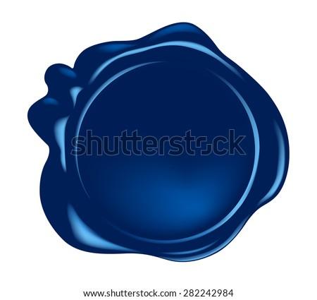 vector wax seal  - stock vector
