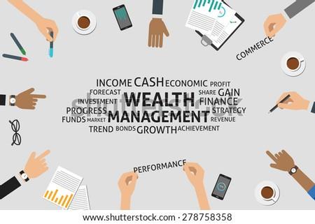 vector wealth management concept, template - stock vector