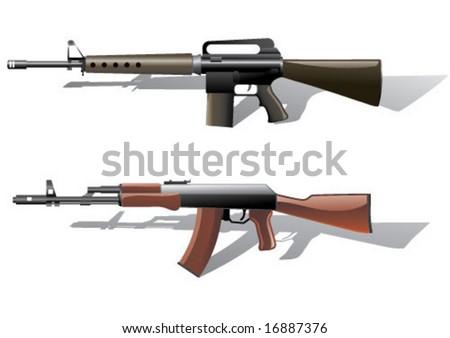 Vector weapons - stock vector