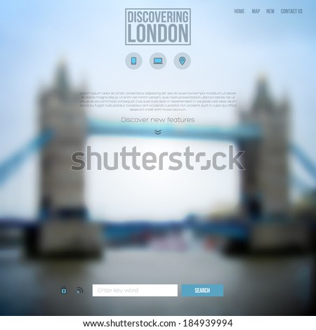 Vector web and mobile interface background. Corporate website design. - stock vector