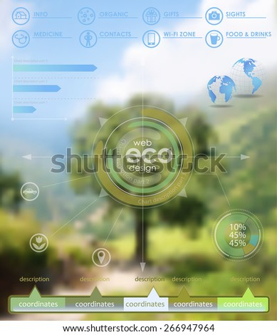 Vector web and mobile interface template. Minimalistic multifunctional media backdrop.  - stock vector