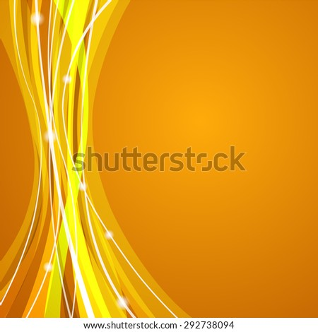 Vector web background design with white stripes theme on yellow background. - stock vector