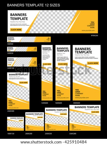 Banner Template Stock Images, Royalty-Free Images & Vectors ...