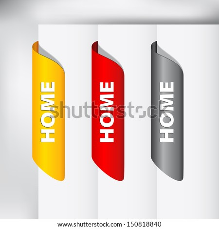Vector web button - home - on the top of the web page - stock vector