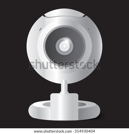 Vector web-camera for personal computer and notebook - stock vector