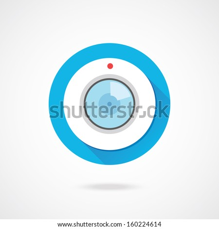 Vector Web Camera Icon - stock vector