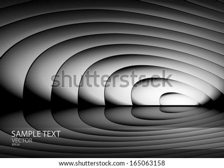 Vector web design light curved template - Vector metal web site background  illustration - stock vector