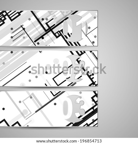 Vector web element for your design, circuit board Illustration.