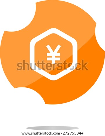 vector web icon on cloud with yen money sign - stock vector