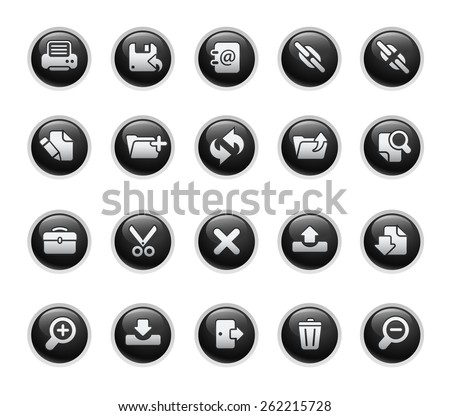 Vector Web Icons - stock vector