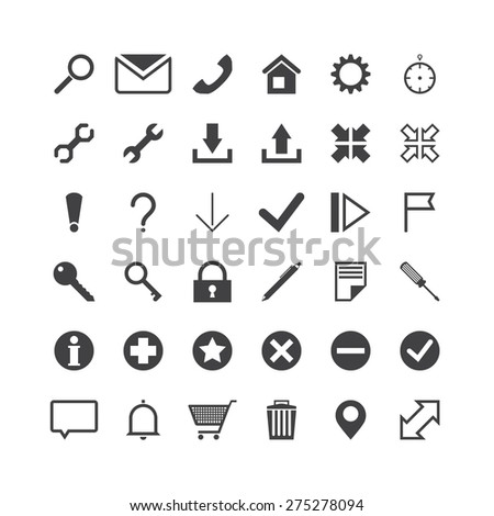 vector web icons. icons set.