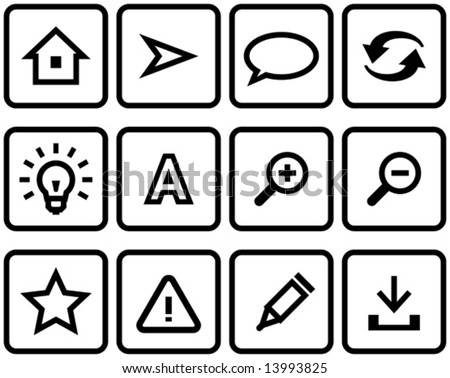 Vector web icons set  You'll find more icons like this in my portfolio - stock vector