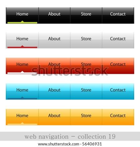 Vector web navigation - stock vector