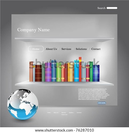 vector web template - stock vector