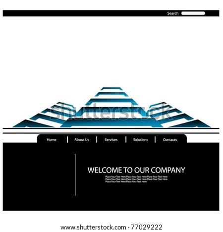 vector web template - stock vector