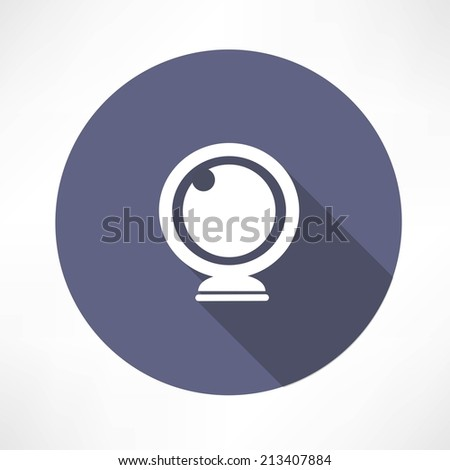 Vector webcam icon - stock vector