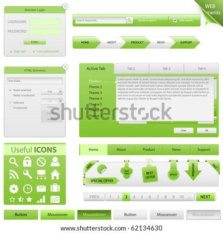 Vector Website Design Elements - stock vector