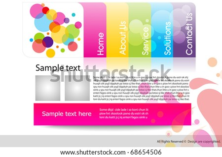 Vector website design template, editable illustration - stock vector