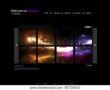 Vector Website gallery Design Template - stock vector