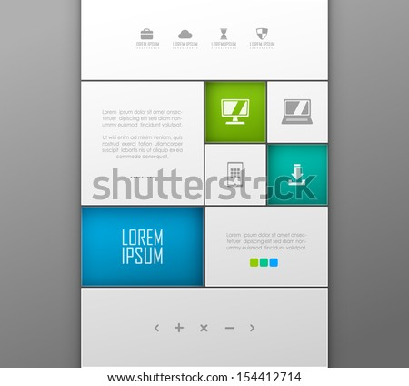 Vector website template design  - stock vector