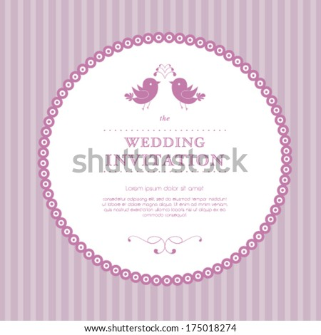 Vector wedding card or invitation with floral ornament background. Perfect as invitation or announcement. - stock vector