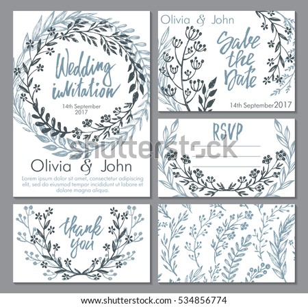 Vector Wedding Collection Templates Invitation Thank Vector – Templates for Invitation