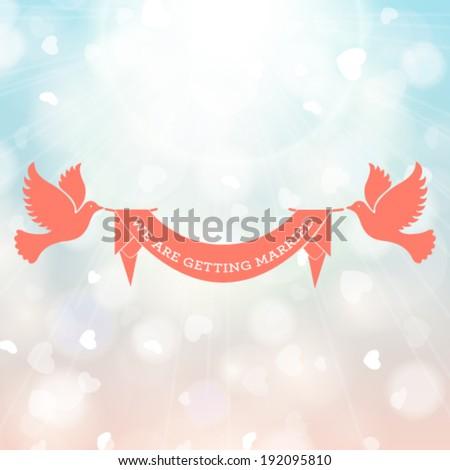 Vector wedding invitation card. Perfect as invitation or announcement. - stock vector