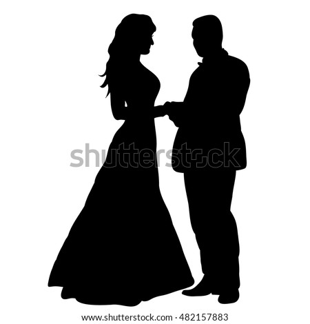 Vector wedding silhouette bride groom stock vector 482157883 vector wedding silhouette of bride and groom junglespirit Choice Image