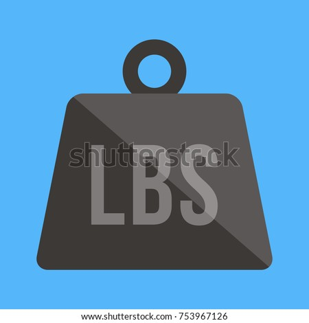 Vector Weight Pounds Icon Stock Vector 2018 753967126 Shutterstock